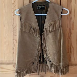 Vintage 1960s fringe suede  vest